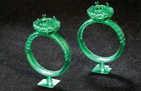 Bagues imprimées en 3D avec projet 1200