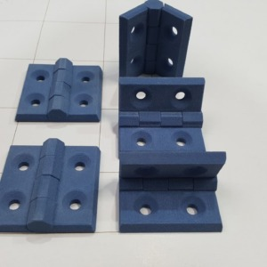 pièce imprimée avec une imprimante 3D SLS - blue care - materiau alimentaire