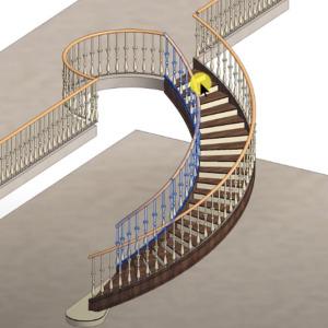 Se former à Revit en modélisat en 3D des escaliers et garde corps